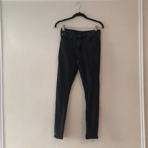 CHEAP MONDAY WASHED BLACK MID-RISE JEANS